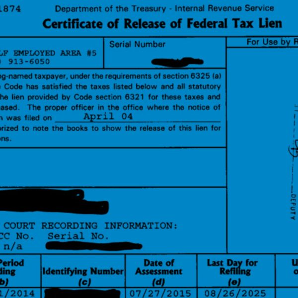 Release of a Federal Tax Lien
